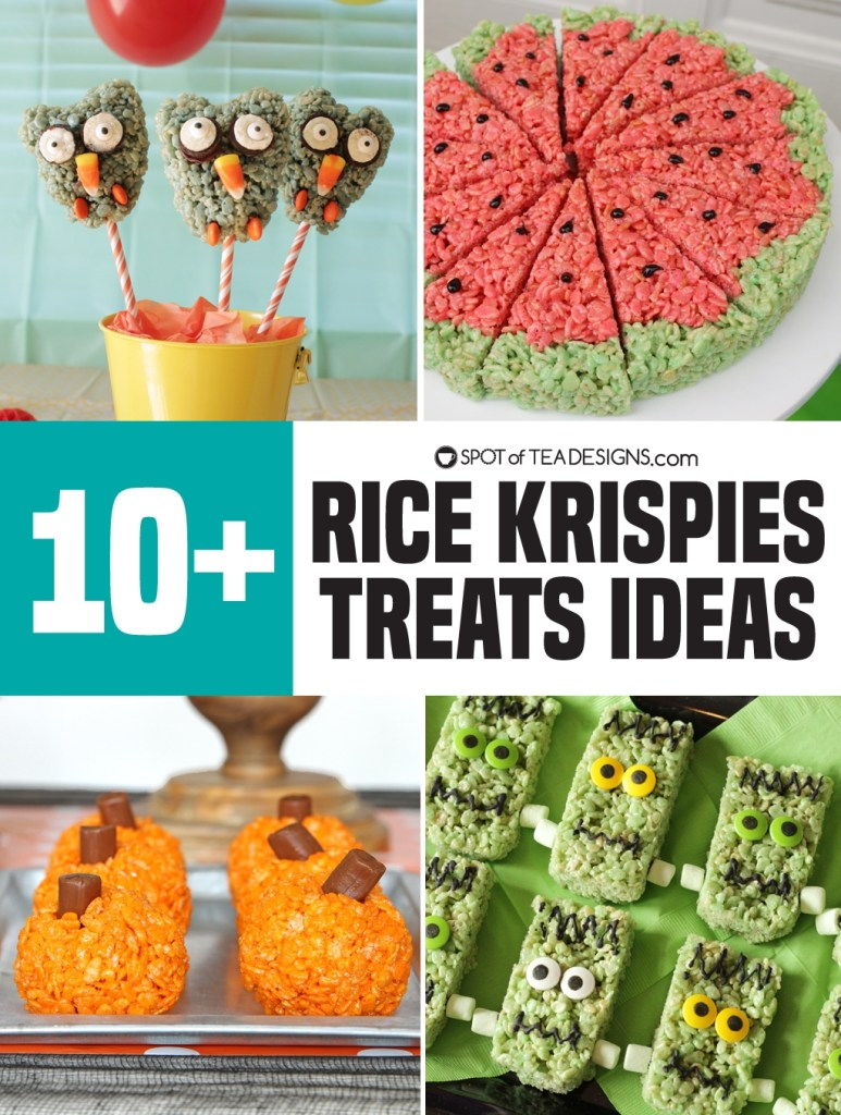 Rice Krispies Treats ideas | spotofteadesigns.com