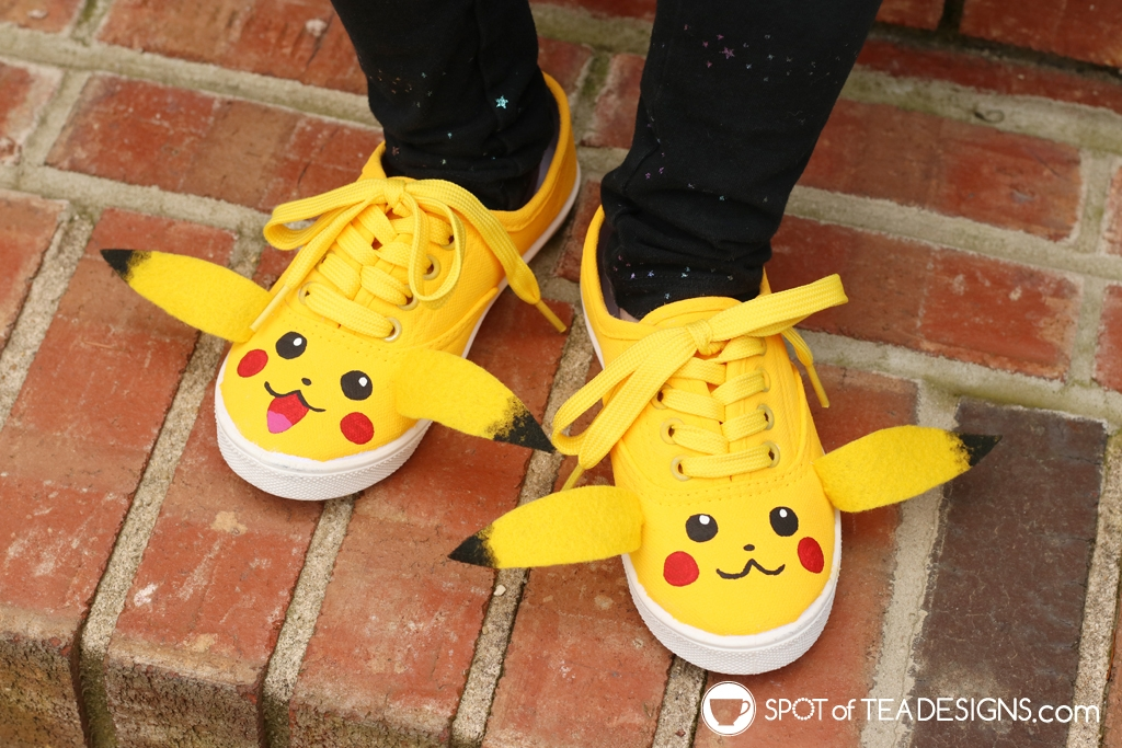 DIY Shoes Roundup - Pokemon Pikachu shoes | spotofteadesigns.com