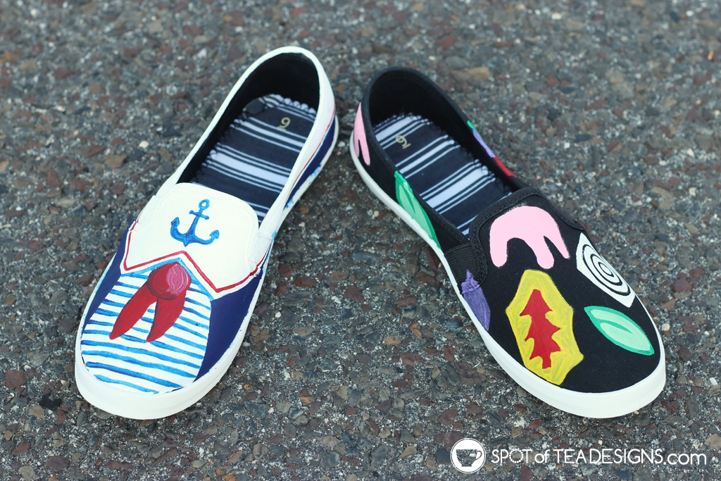 DIY Shoes Roundup - Stranger Things shoes | spotofteadesigns.com
