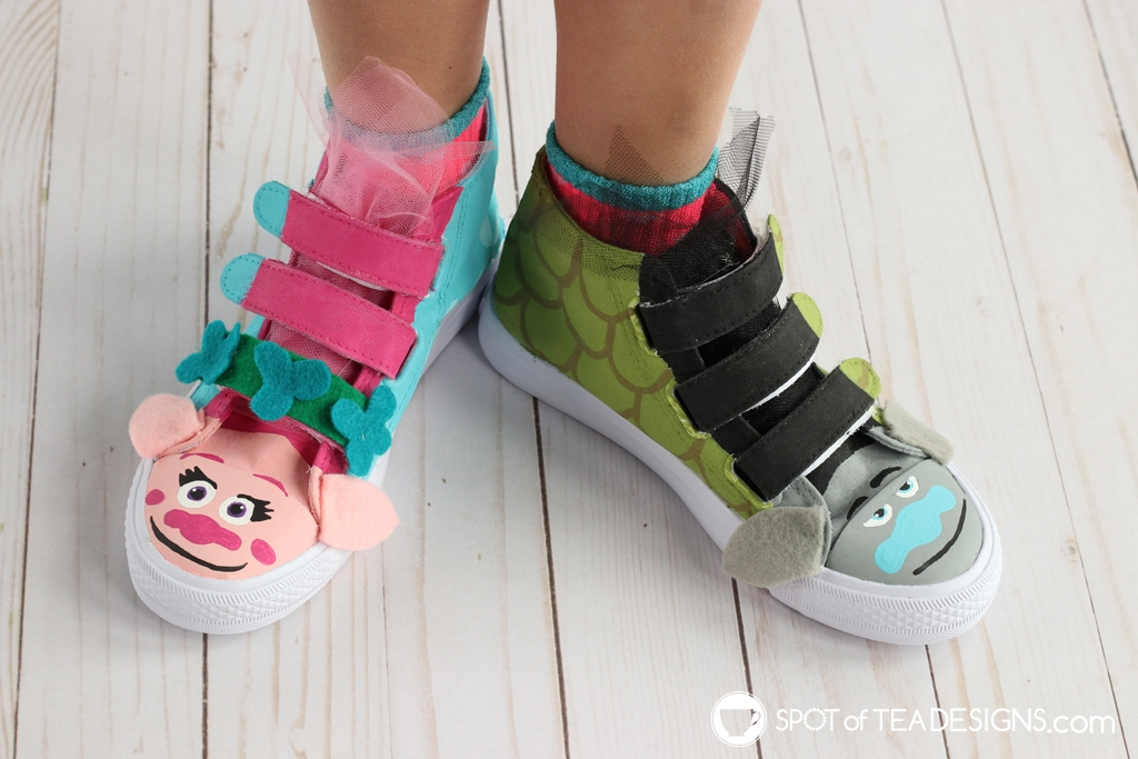 DIY Shoes Roundup - Trolls shoes | spotofteadesigns.com