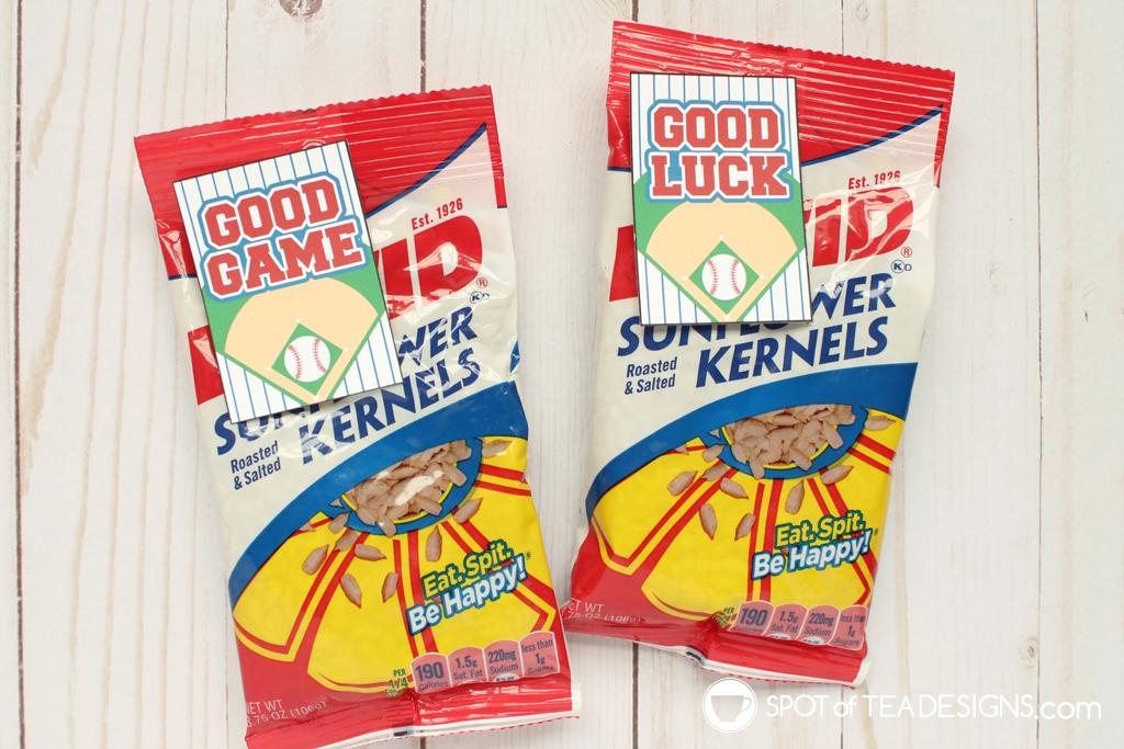 Good Game Baseball Favor Tags | spotofteadesigns.com