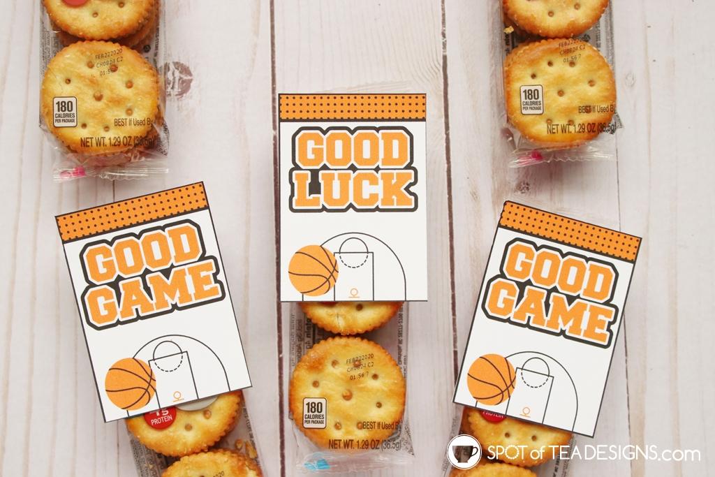 Good game basketball favor tags | spotofteadesigns.com
