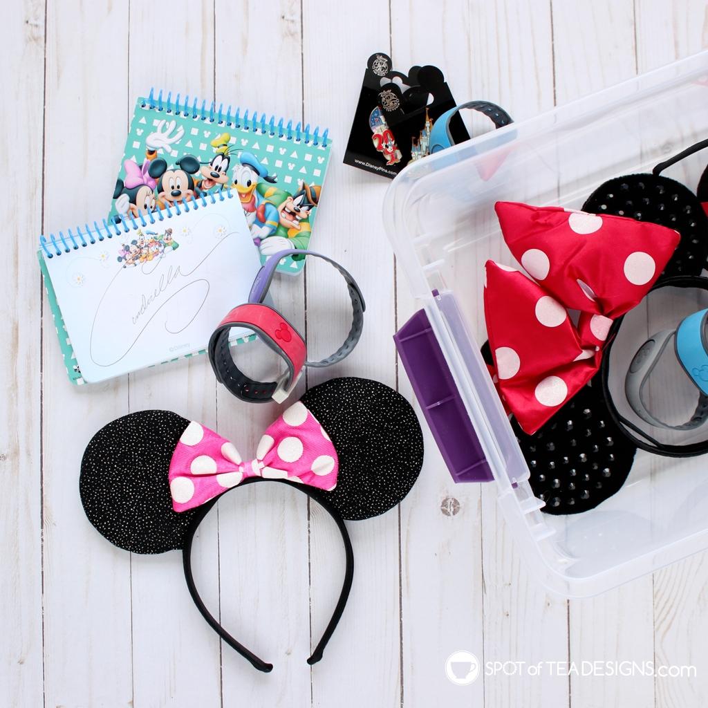 Cricut Disney Pattern Vinyl ideas - storage for your Disney Park stuff | spotofteadesigns.com