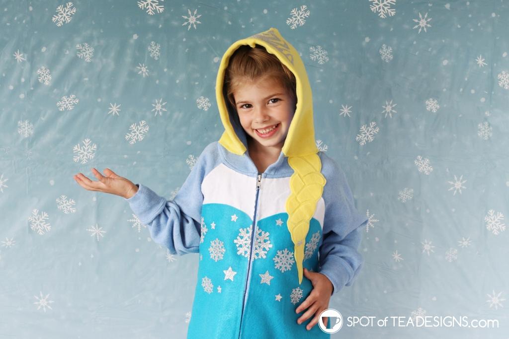 DIY Hoodie for Fall - Elsa hoodie | spotofteadesigns.com