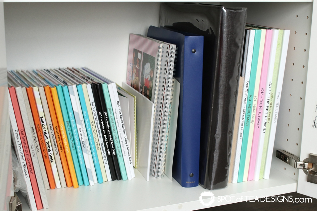 Craft Room Tour - family photo books | spotofteadesigns.com