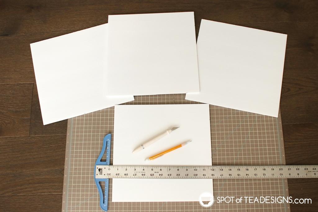 DIY Alphabet blocks with SVG cut file - foam board | spotofteadesigns.com