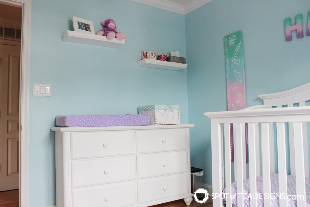 Under the sea nursery - crib side | spotofteadesigns.com