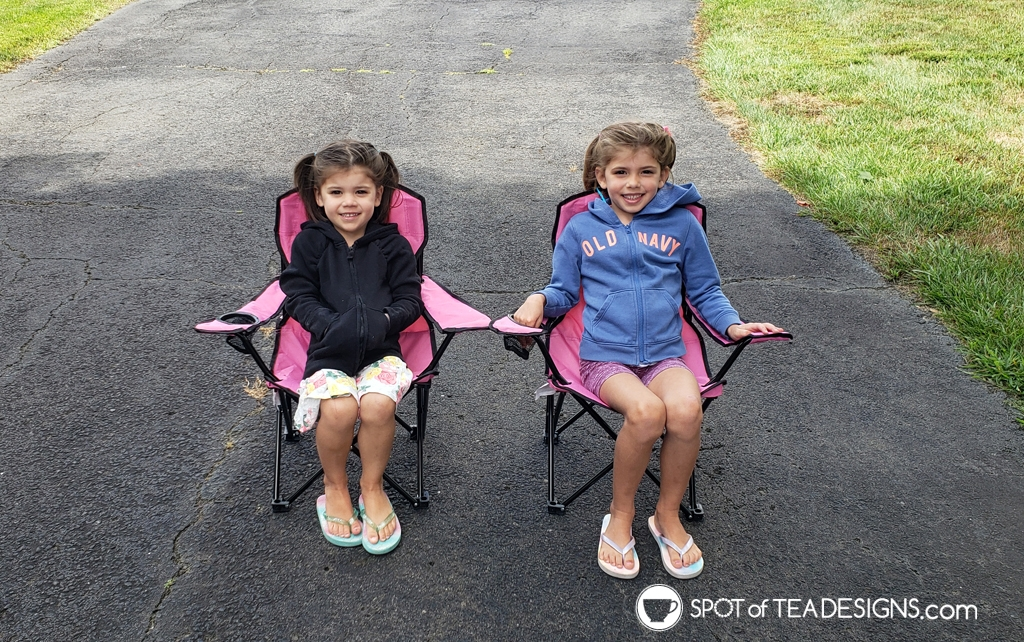 Favorite outdoor toys for kids - kid sized folding camping chairs   spotofteadesigns.com