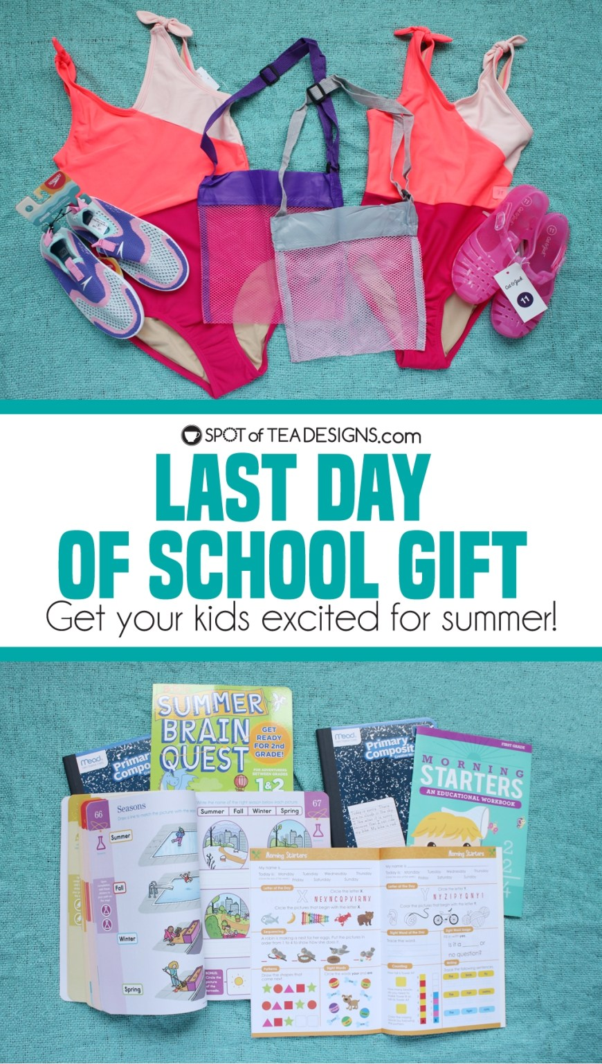 Last day of school gift - get your kids excited for summer! | spotofteadesigns.com