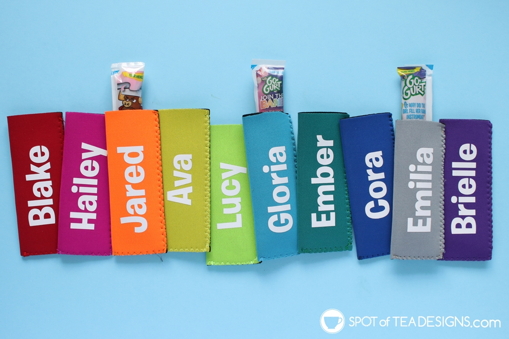 Summer Birthday Party Favors - Personalized Ice Pop Holders made with Cricut Maker | spotofteadesigns.com