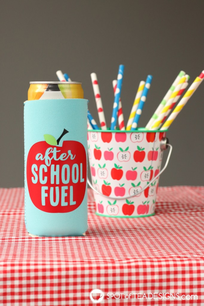 Remote learning can koozies - after school fuel | spotofteadesigns.com