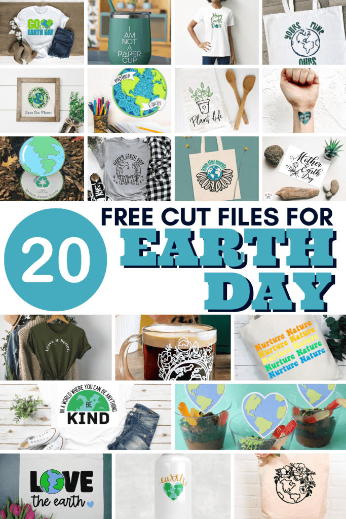 20 free cut files for earth day | spotofteadesigns.com