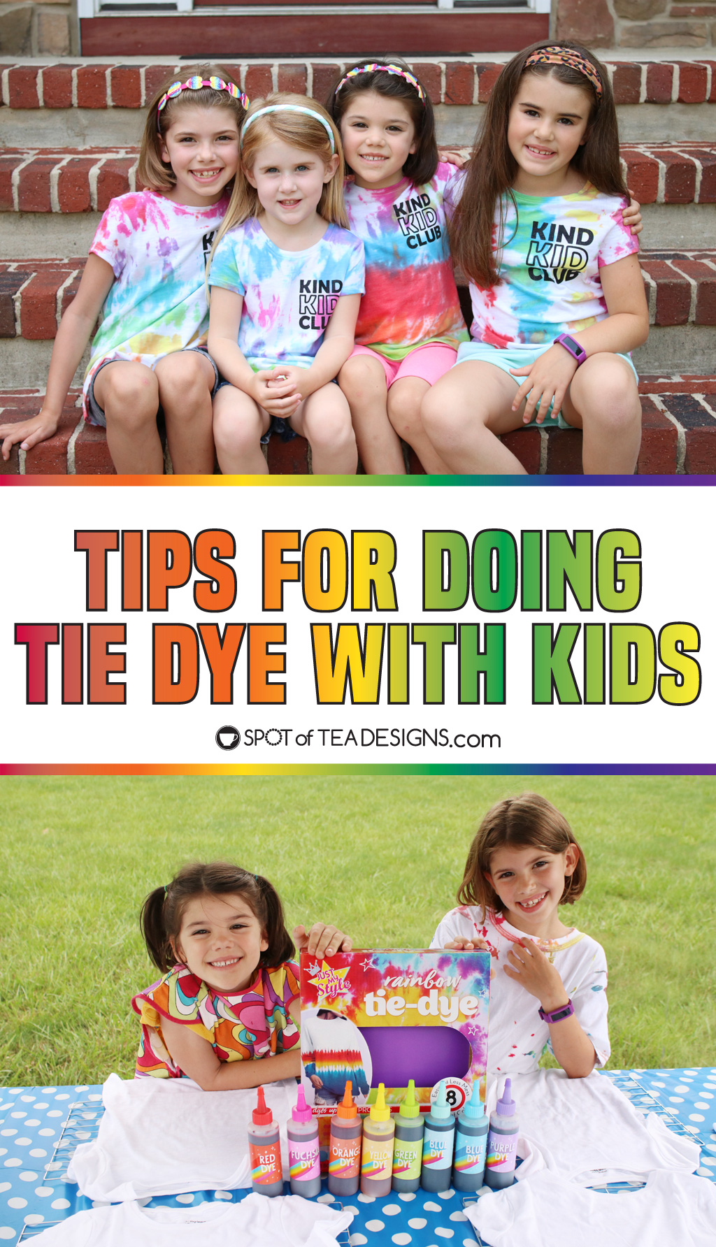 Tips for doing Tie Dye with Kids | spotofteadesigns.com