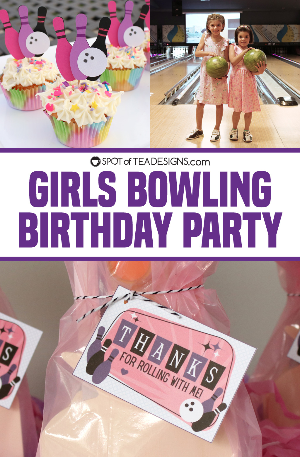 girls bowling birthday party recap | spotofteadesigns.com