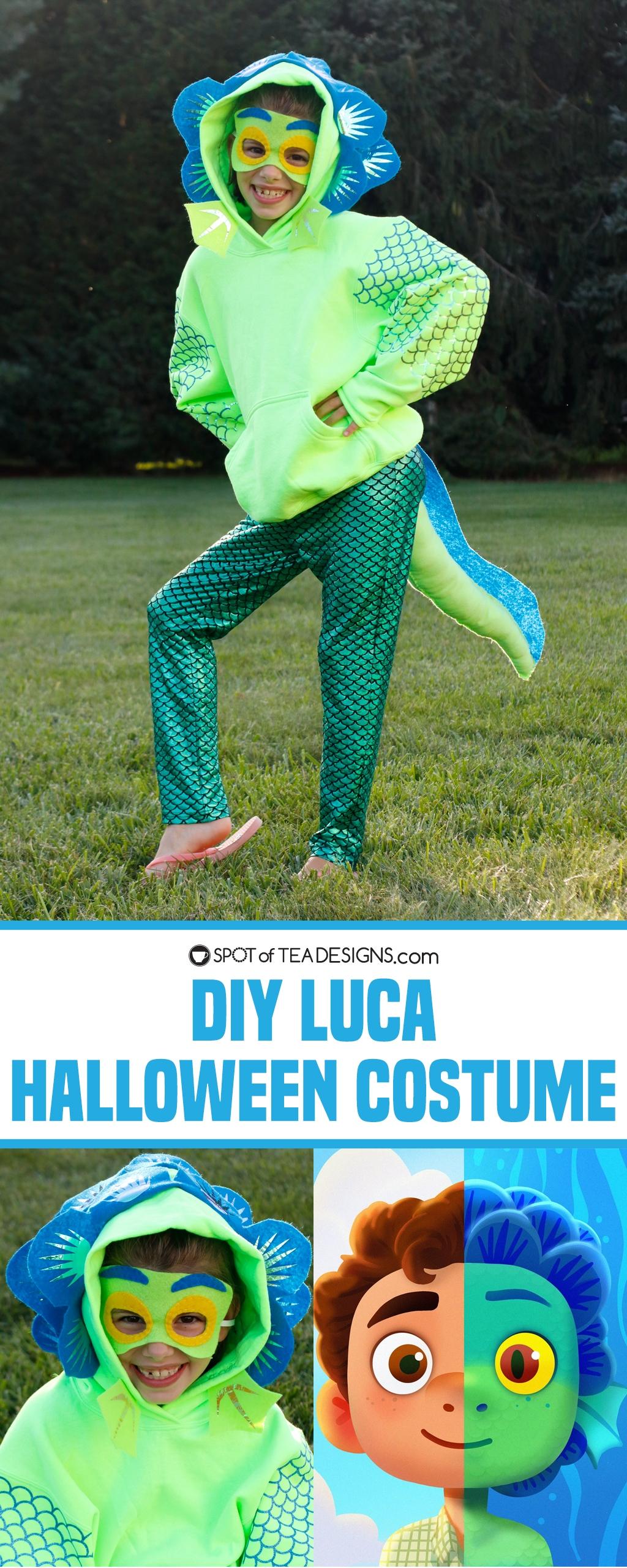 DIY Luca Halloween Costume | spotofteadesigns.com