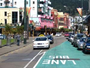 Wellington Traffic with Bus Lane