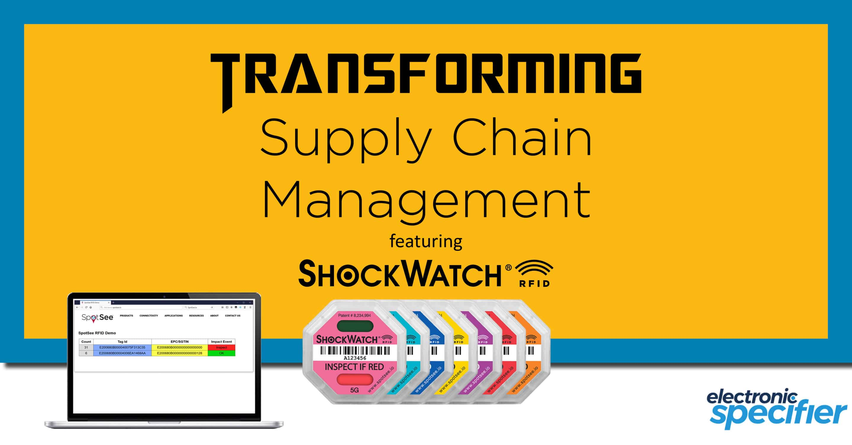 SpotSee Featured on Electronic Specifier: Transforming Supply Chain Management