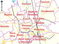 Ceny pozemků Olomouc