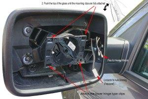 20092018 Dodge RAM 1500 Blind Spot Mirror Direct Replacament