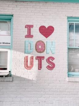 I Love Donuts Mural - Nashville Travel Guide - www.spousesproutsme.com
