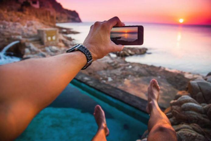 Фотосъёмка заката на смартфон