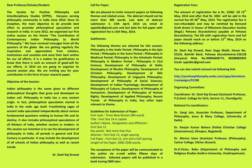 Second Online Session on Development of Philosophy in India (3/3)