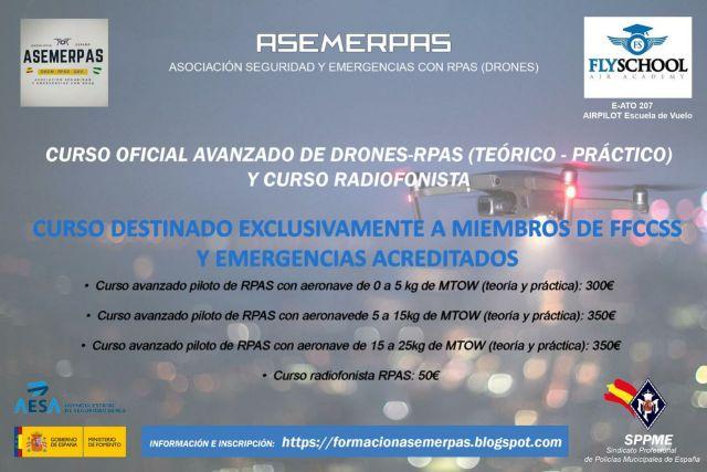 Curso avanzado bvlos de Drones-RPAS y curso de Radiofonista