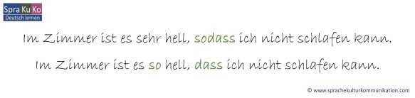 Konsekutive Nebensätze in der deutschen Sprache