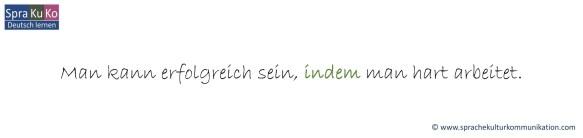 """Modale Nebensätze mit """"indem"""" in der deutschen Sprache"""