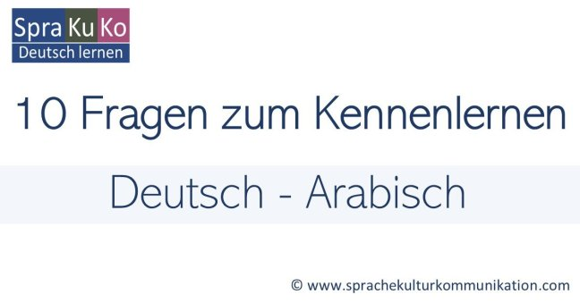Wie sagt man Wie heißen Sie auf Arabisch?