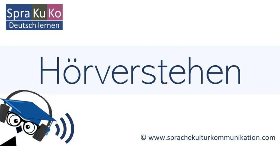 Deutsch hören Hörverstehen Übungen