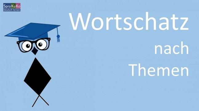 Wortschatz Deutsch lernen
