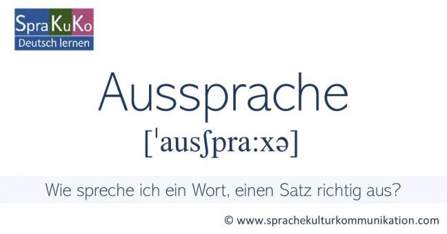Aussprache in der deutschen Sprache