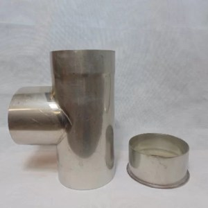 Stainless Steel 90 degree Tee with plug