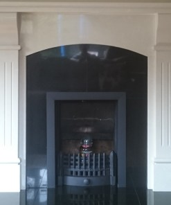 Black Granite Insert with Black Trim