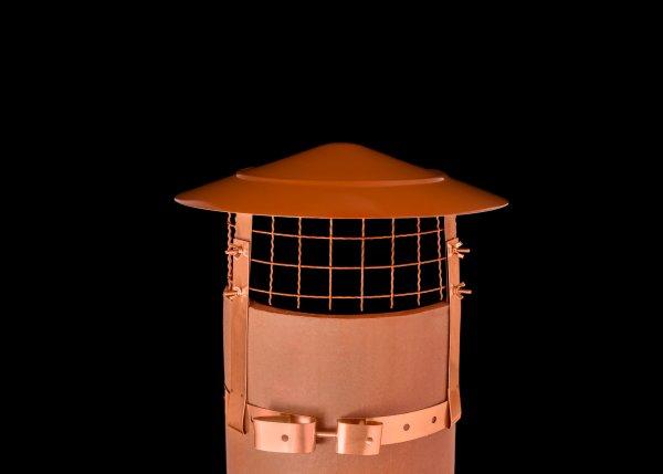 Anti Bird and Rain Cowl Stainless Steel Terracotta