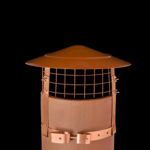 Anti Bird and Rain Cowl Stainless Steel Terracotta