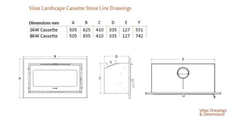 Heat Design Vitae 5 and 8 landscape Diagrams