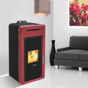 Kalor Alice 32B Wood Pellet Boiler Stove Bordeaux