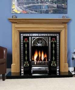 Genova Solid Oak Fireplace