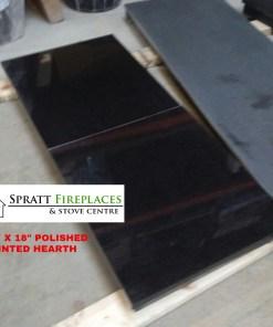 42 X 18 POLISHED BLACK GRANITE