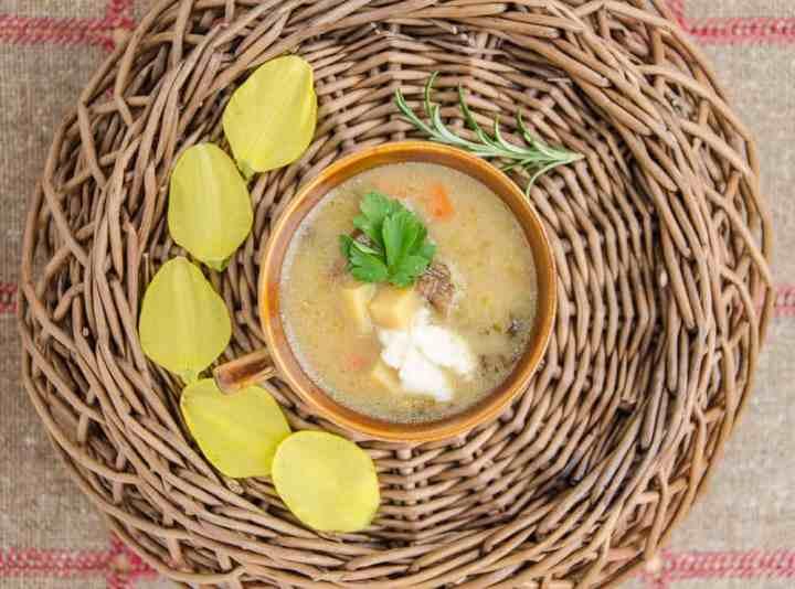zupa grzybowa z chrzanem