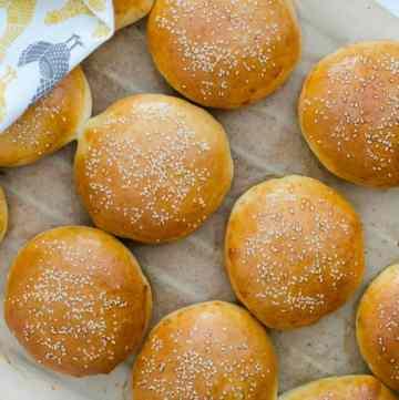 bulki hamburgerowe z zakwasem