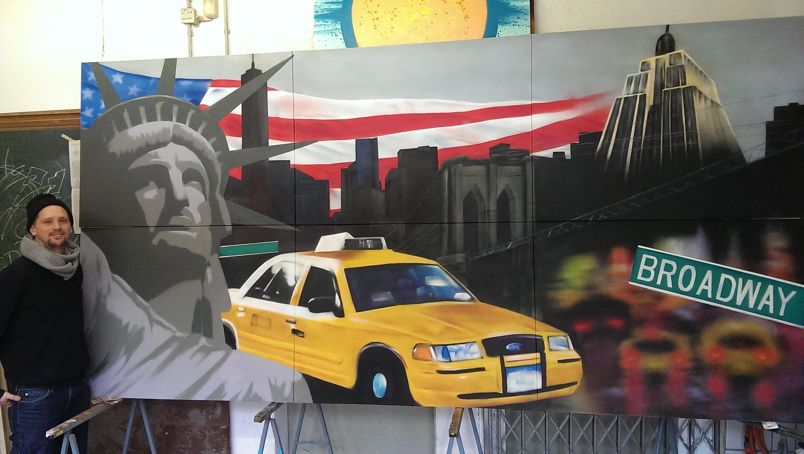 Graffitiauftrag New York Atelier 2