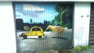 Graffitiauftrag Garagentor Hamburg Othmarschen Enten