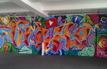 Innenraum Graffiti Büro Style