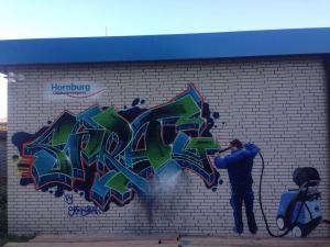 Graffitiauftrag Gebäudereinigung Graffitientfernung
