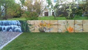 Graffitiauftrag Gartenmauer 3