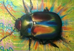 Graffitiauftrag Leinwand Käfer