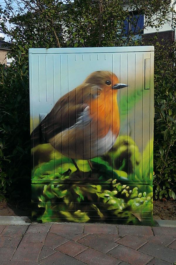 Graffitiauftrag Stromkasten Rellingen